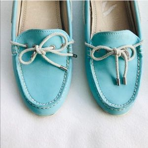 SPERRY Top Sider Tiffany Blue Boat Shoes